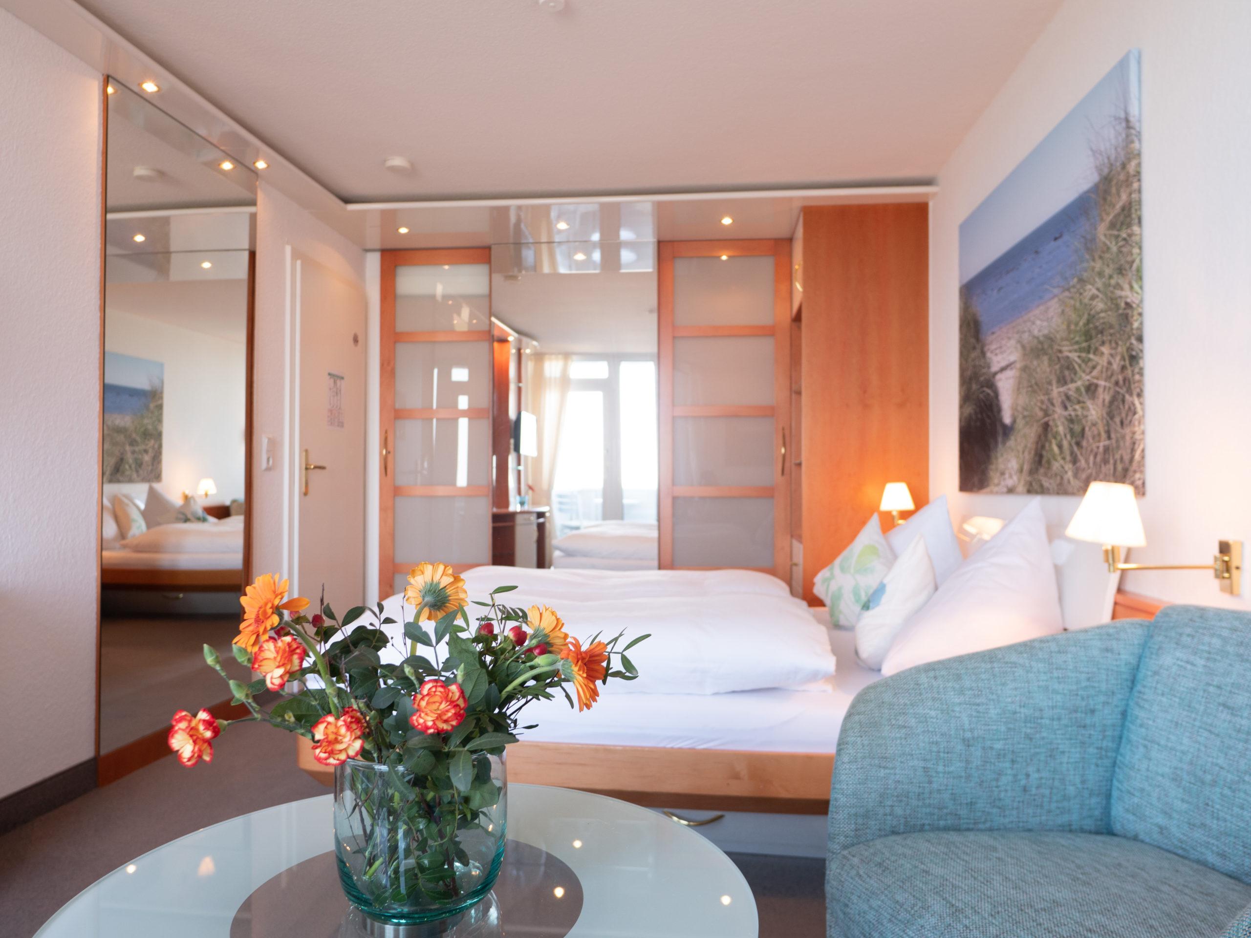 Doppelzimmer des Haus Nickels auf Helgoland