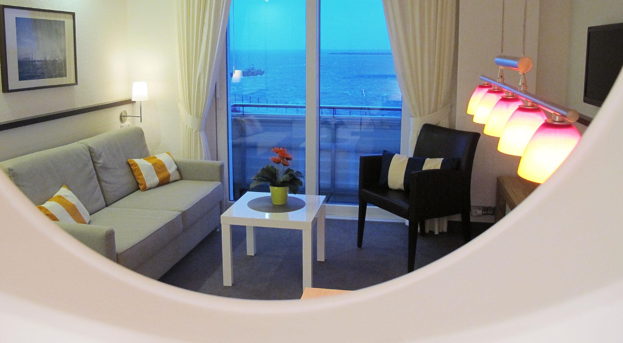 Haus Miramar Appartement, Seeblick, Balkon